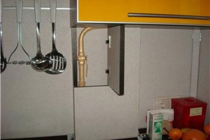 Как скрыть газовые трубы